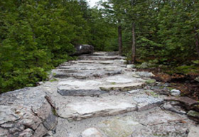 The new steps at Indian Head Cove