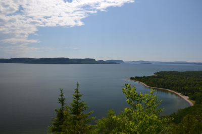 Breathtaking view of Nipigon Bay from the Kama Lookout