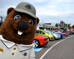 Parks Canada's mascot, Parka, pops into Terrace Bay for Lighthouse Street Festival
