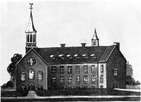 Hôpital Général<br>at the time of d'Youville