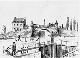 The Lachine Canal as it opened in 1824
