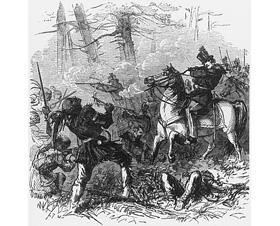 La mort de Tecumseh