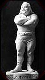 Statuette of Cyr carved by A.J. Rho