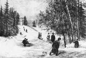 Glissade à Rideau Hall, 1880
