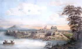Fort St. Joseph en 1804, peint par Lt. Edward Walsh
