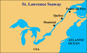 From the Atlantic Ocean to Lake Superior,<br>the St. Lawrence Seaway extends to 3700 km.