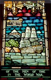 Vitrail représentant la Colombie-Britannique Canadian Memorial Church