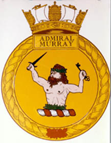 Crest of the Royal Canadian Sea Cadet Corps, Admiral Murray; RCSCC Admiral Murray, located in New Glasgow, Nova Scotia in Pictou county where Murray was raised, is named in his honour.
