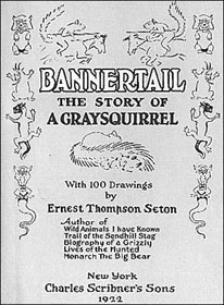 A page from Bannertail: The Story of a Graysquirrel by Ernest Thompson Seton