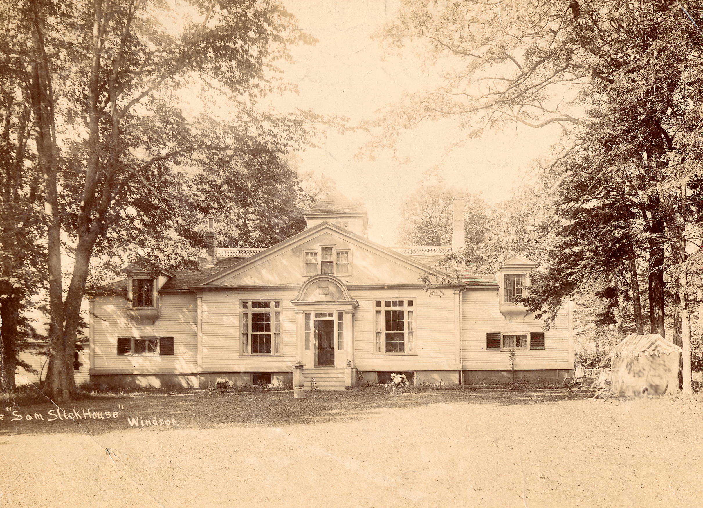 The home of Haliburton, Clifton Grove, circa 1912.