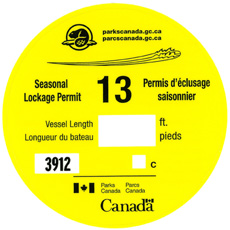 Seasonal Lockage Permit