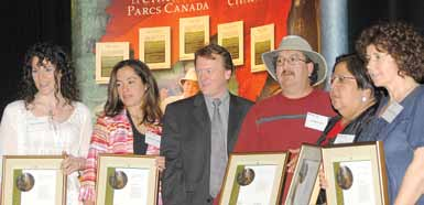 Recipients of the 2006 Chief Executive Officer's Awards of Excellence for the Migmag Cedar Trail Project in the category of Engaging Partners