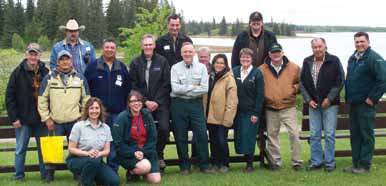 Members of the Bison Handling Workshop