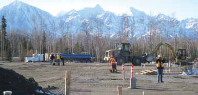 Building site for Champagne & Aishihik First Nations Cultural Centre