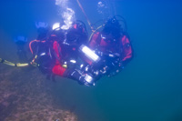Photo of a scuba diver at Saguenay-Saint-Lawrence  National Marine Conservation Area