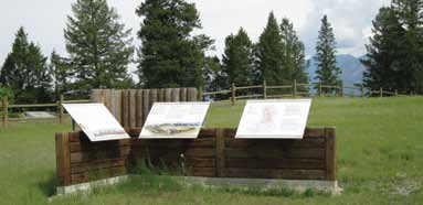 Interpretative panels at Kootenae House National Historic Site