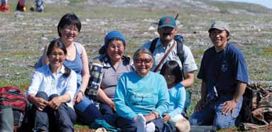 Inuit on the land in Torngat Mountain National Park of Canada