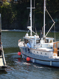 Boaters arriving in Canada stop at the customs dock on South Pender Island