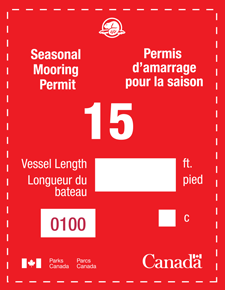 Sample of Seasonal Mooring Permit