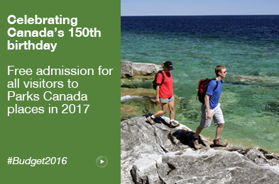 celebrating Canada's 150th birthday: free admission in 2017