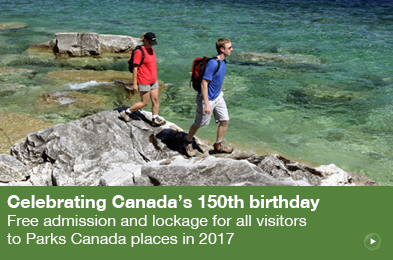 Free admission and lockage for all visitors to Parks Canada places in 2017
