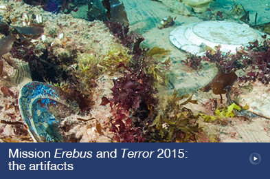 Mission Erebus and Terror 2015: the artifacts