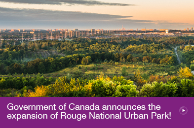 Government of Canada announces the �D;�A;expansion of Rouge National Urban Park