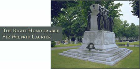 The Right Honourable Sir Wilfred Laurier - Photograph of his grave site