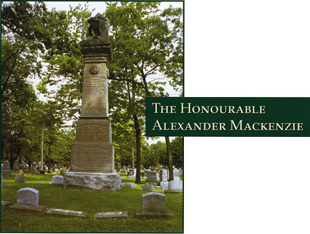 The Honourable Alexander Mackenzie - Photograph of his grave site