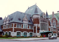 Du Palais Station in Quebec, Quebec, Heritage Railway Station, 1991