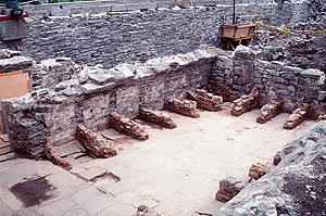 Remains of the 1694 reconstruction work
