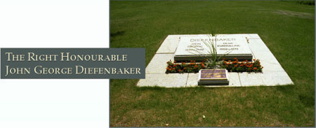 The Right Honourable George John Diefenbaker - Photograph of his grave site