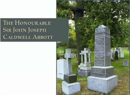 The Honourable Sir John Joseph Caldwell Abbott - Photograph of his grave site