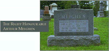 The Right Honourable Arthur Meighen - Photograph of his grave site