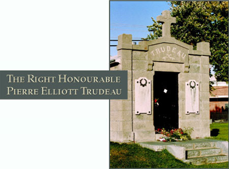 The Right Honourable Pierre Elliott Trudeau - Photograph of his grave site