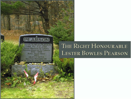 The Right Honourable Lester Bowles Pearson - Photograph of his grave site