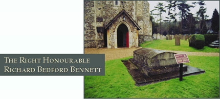 The Right Honourable Richard Bedford Bennett - Photograph of his grave site