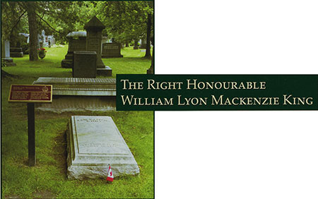 The Right Honourable William Lyon Mackenzie King - Photograph of his grave site
