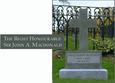 The Right Honourable Sir John A. Macdonald - Photograph of his gravesite