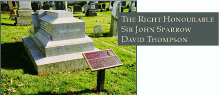 The Honourable Sir John David Sparrow Thompson - Photograph of his grave site