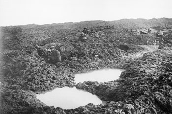 Canadians in shell holes at Passchendaele