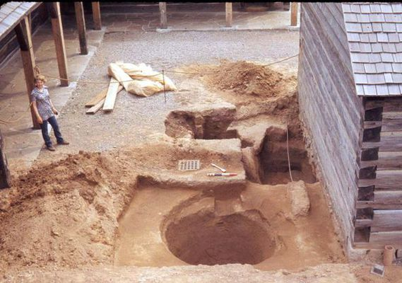 1970s archaeological dig, Fort George National Historic Site