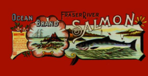 salmon can label, Gulf of Georgia Cannery National Historic Site