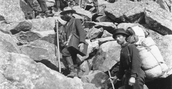 Klondike Stampeders climbing Chilkoot Pass, Chilkoot Trail National Historic Site
