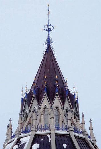 Library of Parliament, roof detail,
