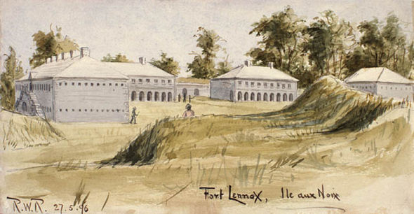 Painting of Fort Lennox