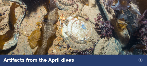 Artifacts from the April dives