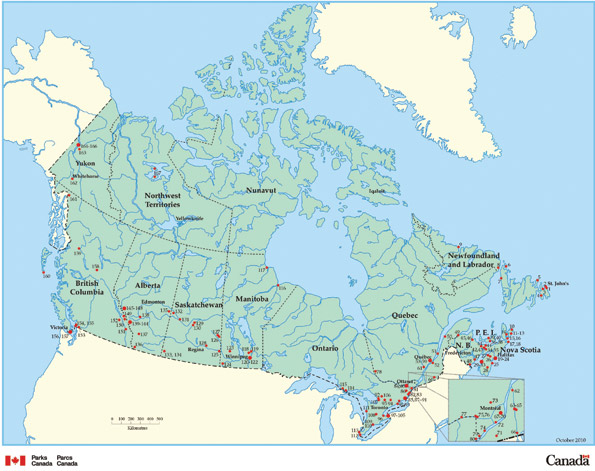 Figure 2 presents the National Historic Sites of Canada System Plan