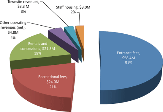 Pie Chart - Revenues by Major Classification