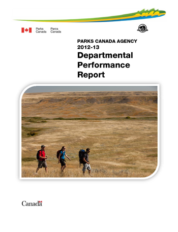 Parks Canada Agency 2012-13 Departmental Performance Report Cover Image